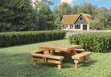Vierkante Picknicktafel Saint-Tropez 230 x 230 x 70 cm Geïmpregneerd Vuren (8-10 personen)_