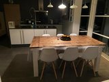 Brocante tafel steigerhout _