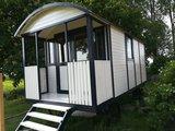 Pipowagen Onbehandeld Vuren 480 x 240 x 319 cm met veranda _