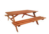 Picknicktafel Malaga 160 x 150 x 75 cm Hardhout (4 personen)_