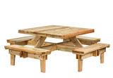 Vierkante picknicktafel Saint-Tropez 230 x 230 x 70 cm geïmpregneerd vuren _