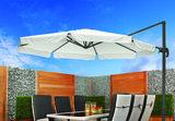Zweefparasol Bonaire 350 x 350 cm wit_