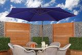 Zweefparasol Aruba 300 x 300 cm blauw (IBIZA style)_