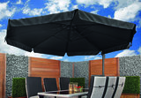 Zweefparasol Bonaire 350 x 350 cm antraciet/zwart met voet_