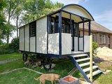 Pipowagen Onbehandeld Vuren 240 x 500 x 319 cm met veranda _