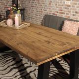 Industriële steigerhouten tafel A-poot_