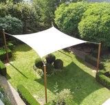 Schaduwdoek vierkant 420 x 420cm zilvergrijs_