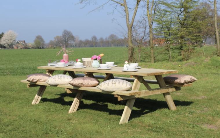 Picknicktafel Parijs Geïmpregneerd vuren 300 x 154 x 74 cm (10 personen)