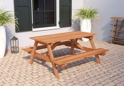 Picknicktafel Malaga 160 x 150 x 75 cm Hardhout (4 personen)