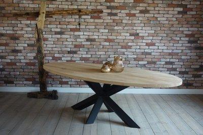 Eiken tafel Verbier Ovaal 3D matrixpoot