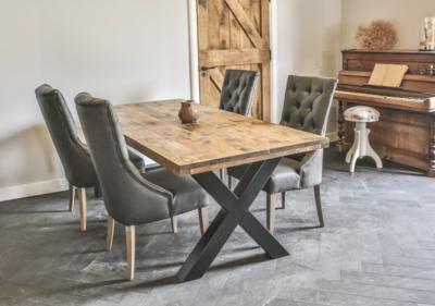 Mooie Steigerhouten Eettafel.Industriele Steigerhouten Tafel X Poot Countrywood