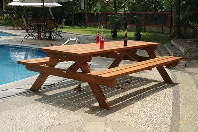 Picknicktafel Madrid 250 x 160 x 75 cm hardhout