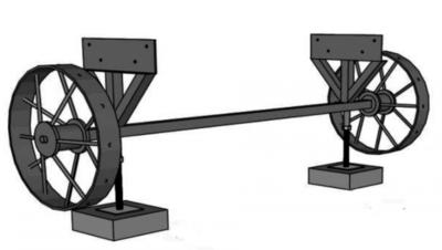 Wielenset 65 x 230 x 70 cm voor pipowagen