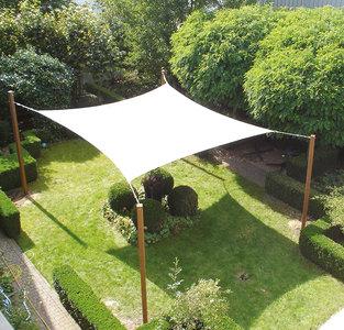 Schaduwdoek vierkant 420 x 420cm zilvergrijs